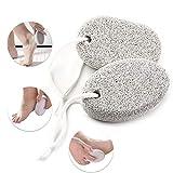 2 Stücke Natur Bimsstein, PHOGARY Lavastein Fußpflege Hornhaut Harte Haut Entfernen für Füße und Hände - Natürliches Fuß-Scrub zum Entfernen toter Haut